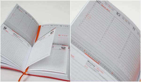 Lediberg Kalender 2015 Wochenuebersicht und Stundeneinteilung