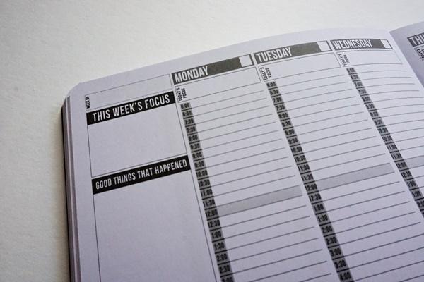 Passion Planner Wochenfokus und Zeitleiste by TOC