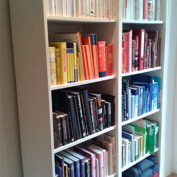 Bücherregal nach Farben sortiert by TOC