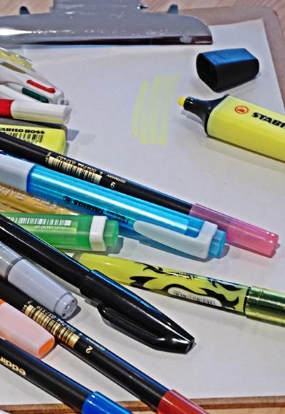 Stifte ausprobieren und aussortieren das mag TOC am liebsten