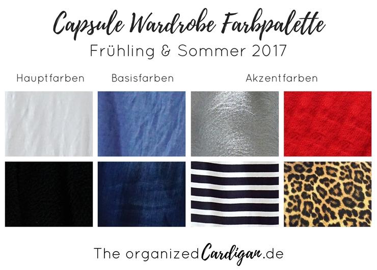 Capsule Gardrobe Frühling und Sommer Farbpalette