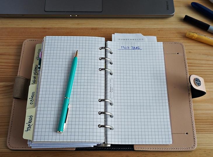 Filofax Beispielseite Haushaltsbuch