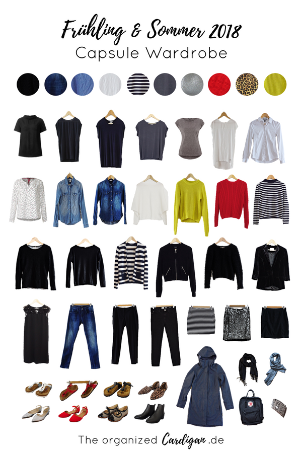 Capsule Wardrobe Spring Summer Frühling Sommer 2018 by The organized Cardigan