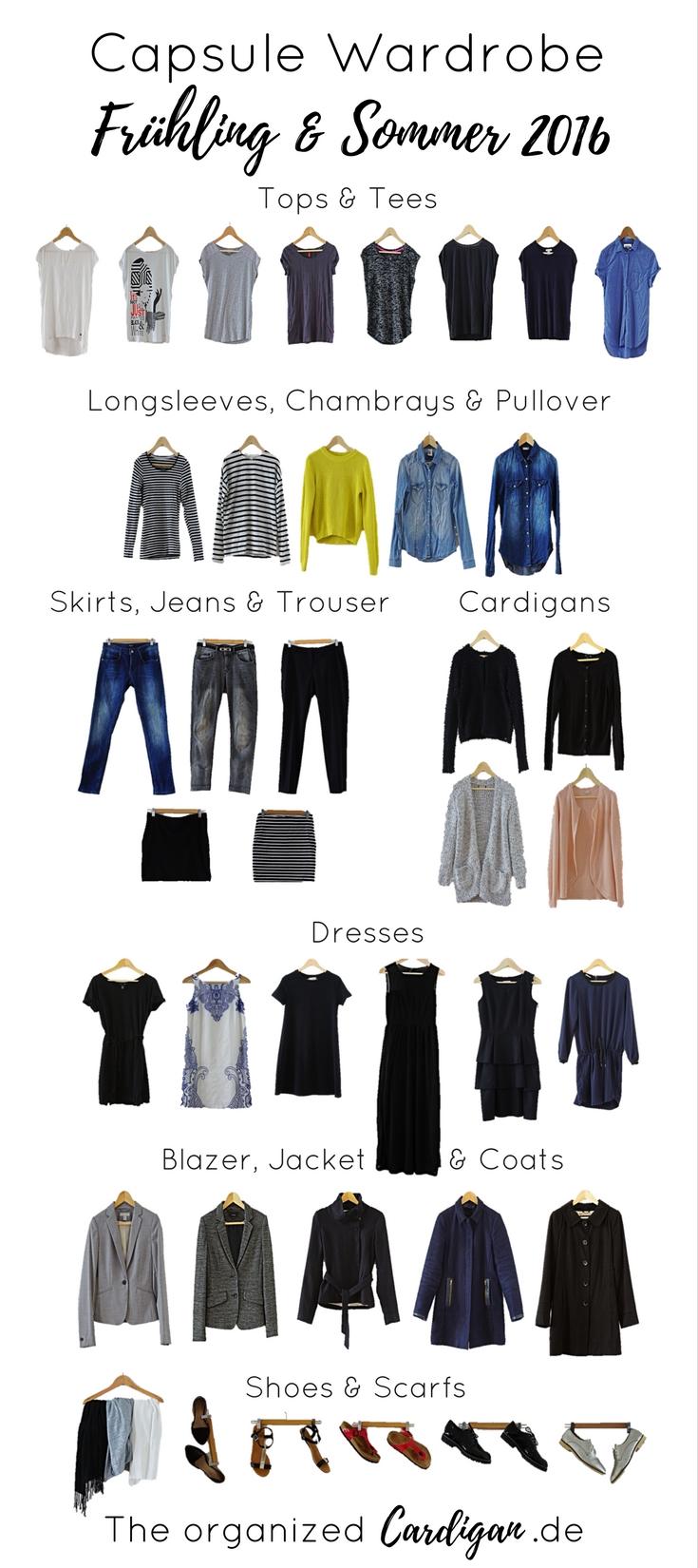 Spring and Summer Capsule Wardrobe 2016 Frühlings und Sommer Capsule Garderobe 2016