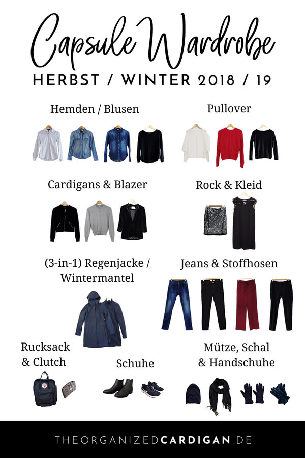 Herbst Winter Capsule Wardrobe 2018 2019 The Organized Cardigan