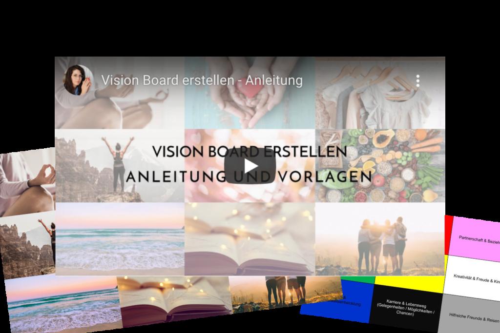 Vision Board erstellen-Anleitung und Vorlage
